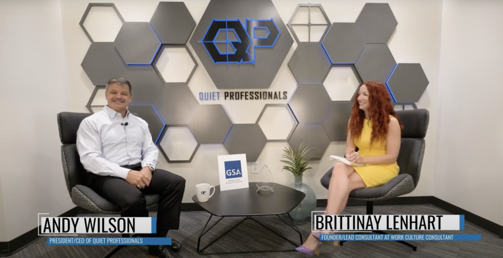 Andrew Wilson, CEO of Quiet Professionals, speaks with Brittany Lenhart of the Work Culture Consultant podcast.