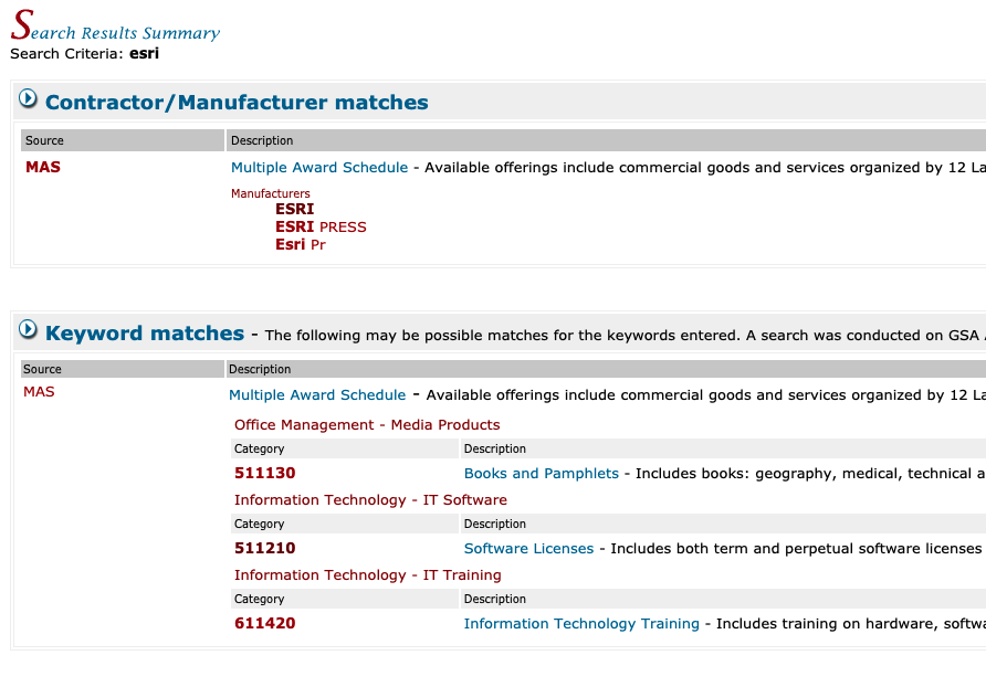 02 GSA eLibrary Search Results Summary 2